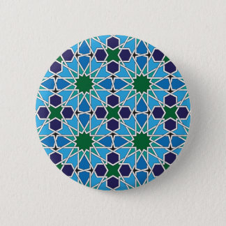 Ben Yusuf Madrasa Geometric Patterrn 10 Pinback Button