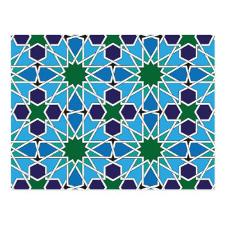 Ben Yusuf Madrasa Geometric Patterrn 10 Postcard
