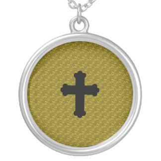 Benah Black Cross Necklace