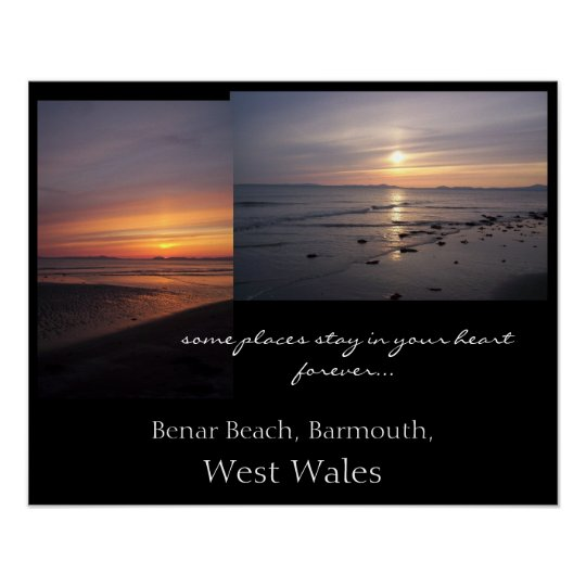 Benar Beach, Barmouth, West Wales. Poster