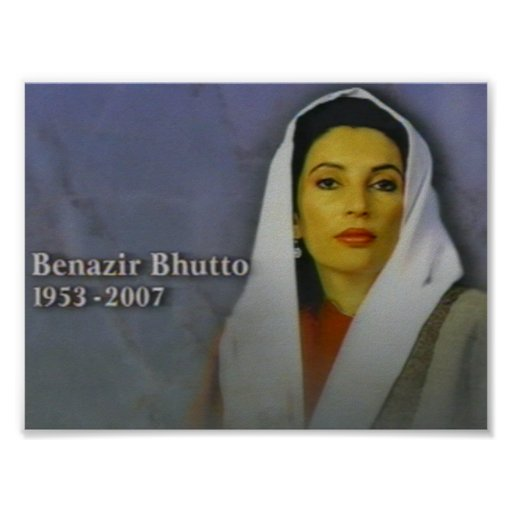 benazir bhutto poster