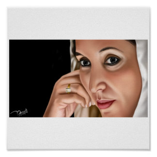 benazir-bhutto-shaheed - Customized Poster