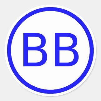 BenBerg6 YouTube Logo Classic Round Sticker