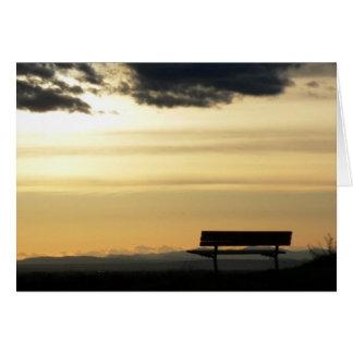 Bench at Sunset Card