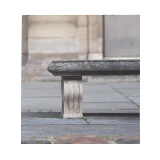 Bench at the Louvre Notepad