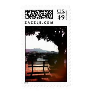 Bench by the Harbor Postage