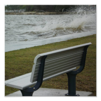 Bench by the Sea Poster