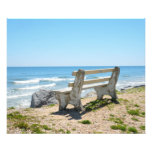 Bench Chair on the Beach Photo Print