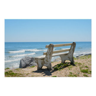 Bench Chair on The beach Poster
