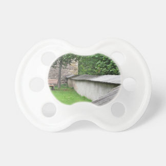 Bench in a meadow pacifier