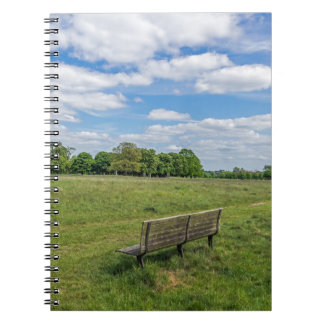 Bench in a park notebook