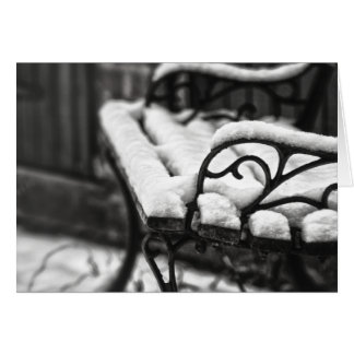 Bench in the Snow Card