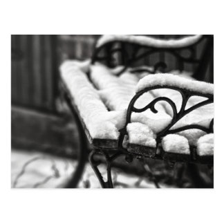 Bench in the Snow Postcard