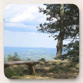 Bench Overlooking Hawk Mountain Beverage Coaster