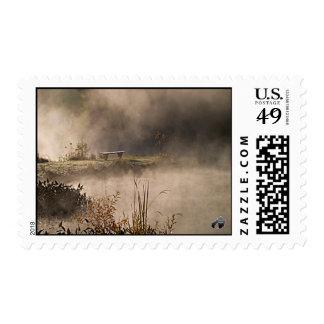 Bench Pond Steam Postage Stamp