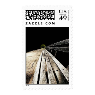 bench postage stamp