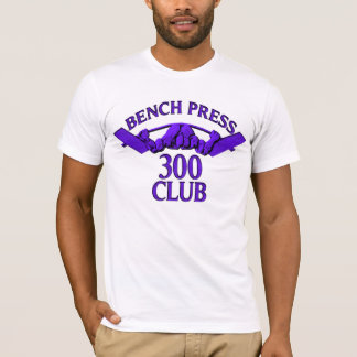 Bench Press 300 Club Purple T-Shirt