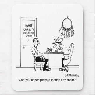 Bench Press a Loaded Key Chain Mouse Pad