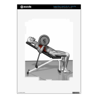 Bench Press Incline Decal For iPad 3