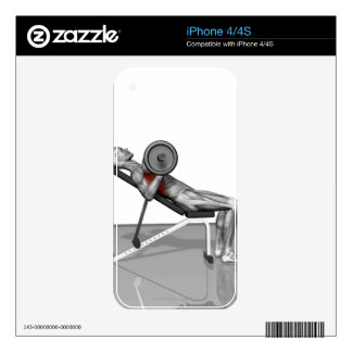 Bench Press Incline iPhone 4 Skins
