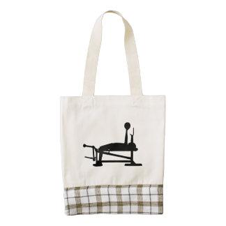 Bench Press Zazzle HEART Tote Bag