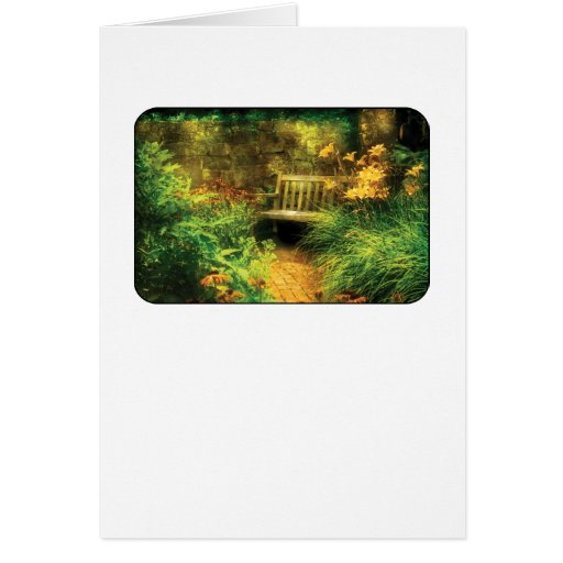 Bench - Privacy Greeting Card