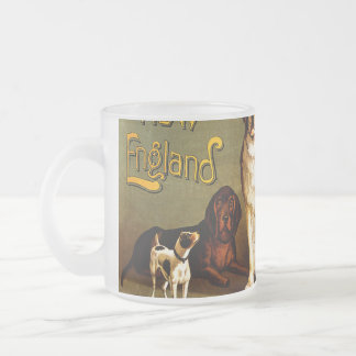 Bench Show. New England Kennel Club Frosted Glass Coffee Mug