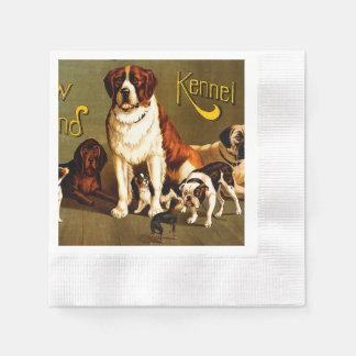 Bench Show. New England Kennel Club Napkin