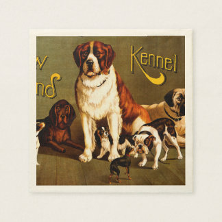 Bench Show. New England Kennel Club Paper Napkin