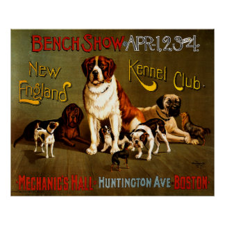 Bench Show. New England Kennel Club Poster