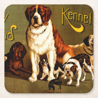 Bench Show. New England Kennel Club Square Paper Coaster