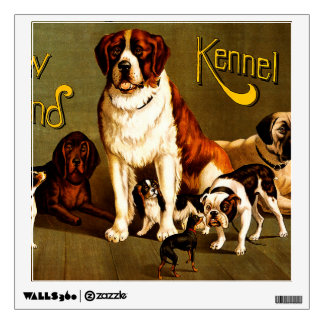 Bench Show. New England Kennel Club Wall Decal