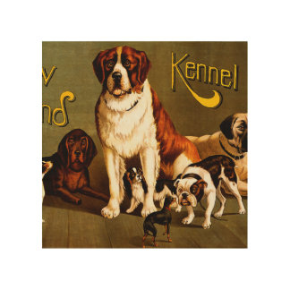 Bench Show. New England Kennel Club Wood Wall Art