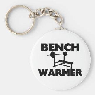 Bench Warmer Basic Round Button Keychain