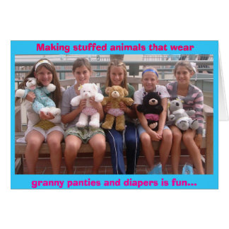 benchbears2, Making stuffed animals that wear, ... Greeting Card