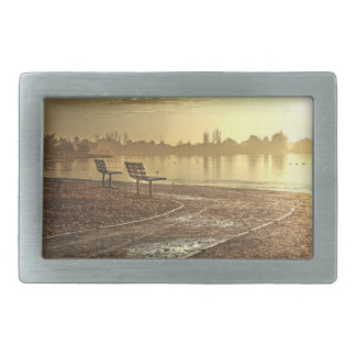 Benches at Sunrise Belt Buckle
