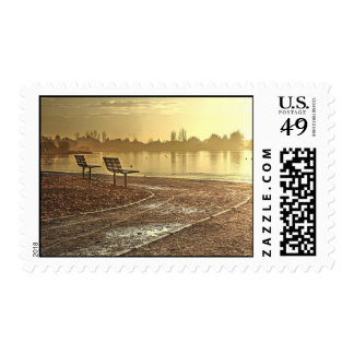 Benches at Sunrise Postage Stamps Postage Stamps