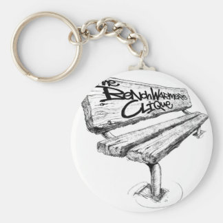 benchwarmers_logo_sharpened mid basic round button keychain