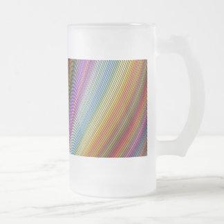 Bend Frosted Glass Beer Mug