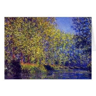 Bend in Epte River near Giverny France Monet art Card