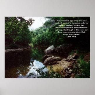 Bend in the Baker River, Rumney, NH Poster