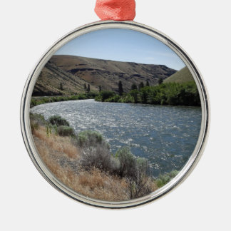 Bend in the River Metal Ornament