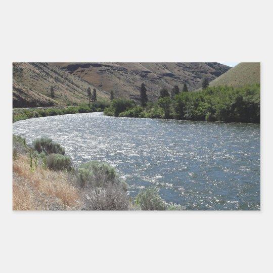 Bend in the River Rectangular Sticker