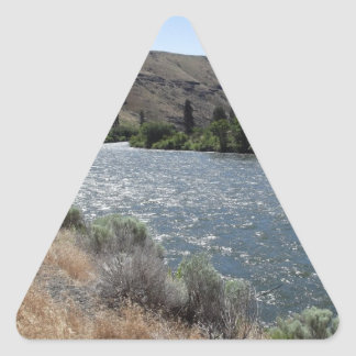 Bend in the River Triangle Sticker