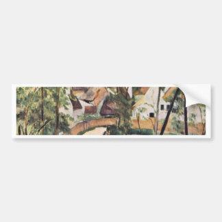 Bend In The Road By Paul Cézanne (Best Quality) Car Bumper Sticker