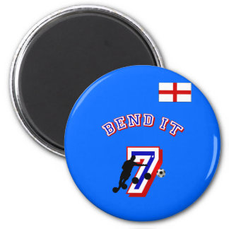 Bend it England no 7 Football fans gifts 2 Inch Round Magnet