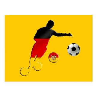 Bend it like a German fussballspieler gifts Postcard