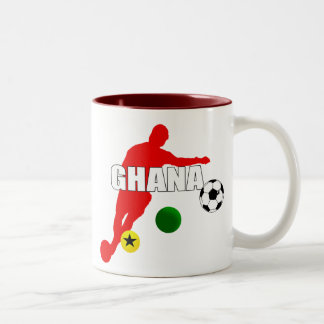 Bend it like a Ghanaian soccer players gifts Two-Tone Coffee Mug