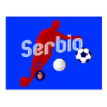 Bend it like a Srbia Serbia soccer player Postcards