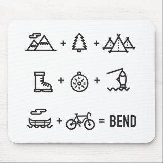 Bend Oregon Activities Equation Logo Mouse Pad